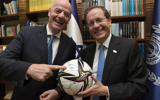 Gianni Infantino also met Israel's president Isaac Herzog during his visit