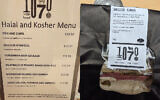 Kosher menu and a salt beef sandwich. For the first time Jewish and Muslim staff in Westminster can enjoy food that meets dietary requirements (Credit: Charlotte Nichols MP)