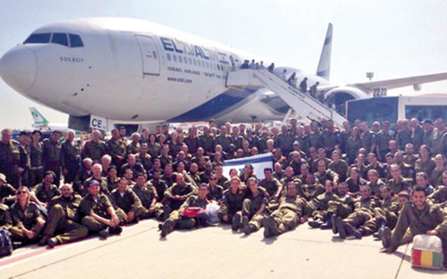 The IDF aid delegation returning from Nepal.