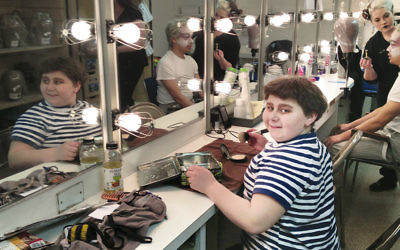 "Jeremy Shinder gets ready to play Pugsley in the ""Addams Family."