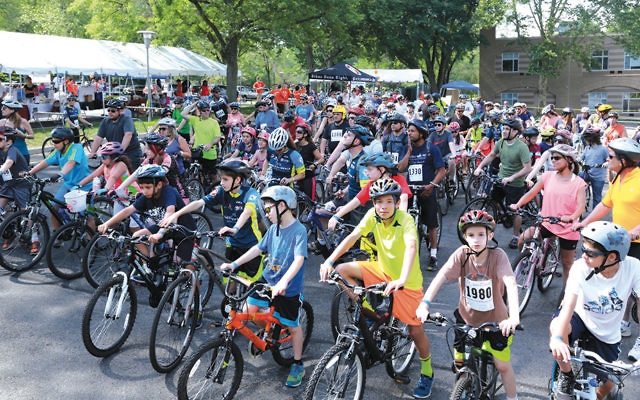 Riders are raring to start the 10 mile ride.