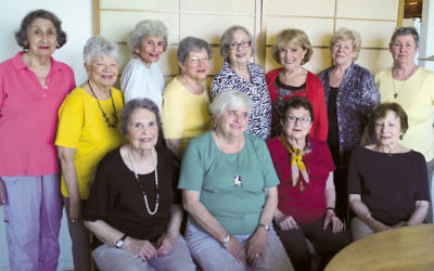 The women of Saafe: standing, from left, Libby Berday, Meryle Keller, Ethel Matusow, Doris Koenig, Nina Hertzberg, Dorothy Kaplan, Rosalie Oloff, and Dian Gilmore. Seated, Etia Segall, Ria Sklar, Leah Richter, and Joan Alter.