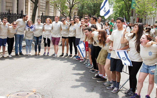 Garin Tzabar members gather in New York before they go to Israel.