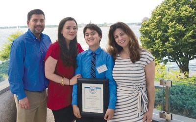 Danny, Shoshana, Benny, and Nancy Edelman; now both Shoshana and Benny have won the Kaplun award for their essays.