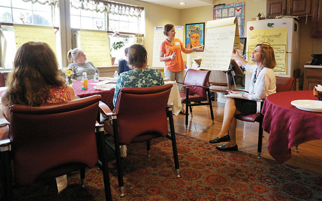 """A session of """"Take Control of Your Health"""" at the Jewish Home Assisted Living in River Vale. (Courtesy JHAL)"""