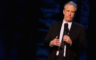 "Jon Stewart performs as part of Comedy Central's ""Night Of Too Many Stars"" at the Beacon Theatre in Manhattan in February this year.  (Stephen Lovekin/Getty Images for Comedy Central)"
