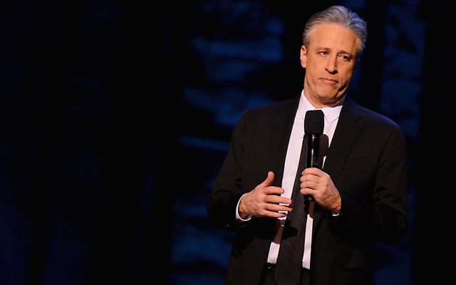 """Jon Stewart performs as part of Comedy Central's """"Night Of Too Many Stars"""" at the Beacon Theatre in Manhattan in February this year.  (Stephen Lovekin/Getty Images for Comedy Central)"""