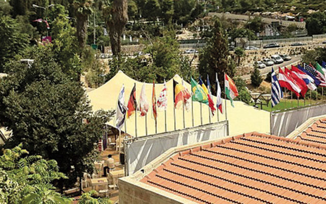 The Jerusalem Cinematheque and Sultan's Pool is just below the walls of the Old City. It is the centerpiece for the annual Jerusalem International Film Festival. (Judy Lash Balint)