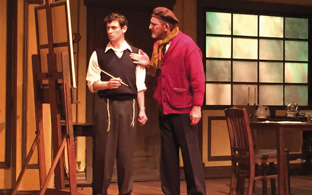 """Max Wolkowitz, left, and Howard Pinhasik in Penguin Rep Theatre's production of """"My Name is Asher Lev."""" (Stephen Nachamie)"""