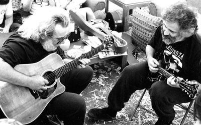 Jerry Garcia, left, and David Grisman.
