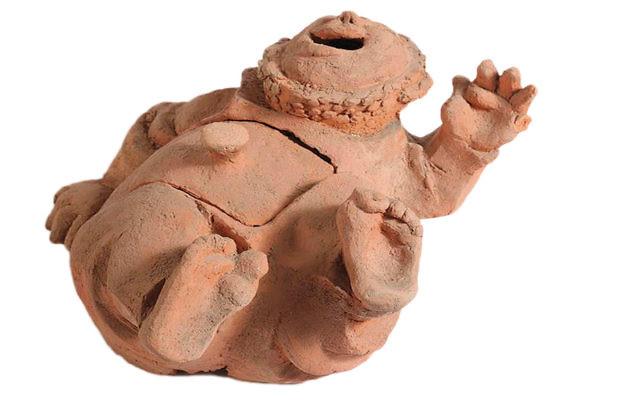 Clay sculpture by Nachum Gutman at Nachum Gutman Museum in Tel Aviv. (Museumsinisrael.gov.il/Israel 21C)