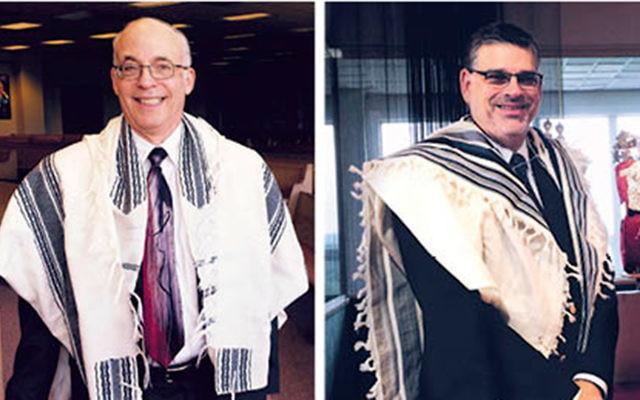 Rabbi David Klatzker, left, and Cantor Alan Sokoloff