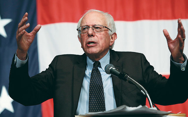 Senator Bernie Sanders speaks at the Iowa Democratic Wing Ding in Clear Lake on August 14.  (Win McNamee/Getty Images)