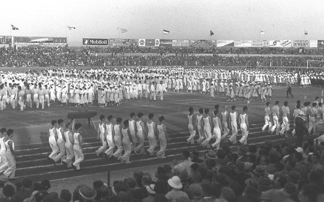The opening ceremonies of the 1935 Maccabiah Games. (Courtesy Joseph Yekutieli Maccabi Archive)