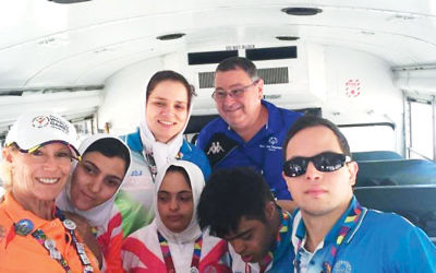 Iranians and Israelis en route to the Special Olympics