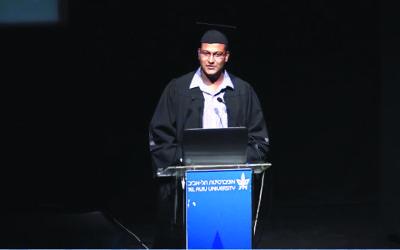 Tel Aviv University valedictorian Haisam Hassanein