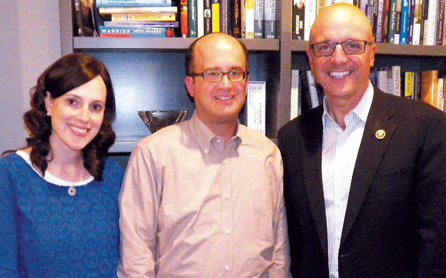 Shira and Yisroel Hochberg, left, with Representative Ted Deutch. (Courtesy NORPAC)