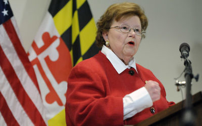 FILE - In this March 2, 2015 file photo, Sen. Barbara Mikulski, D-Md., the longest-serving woman in the history of Congress, speaks during a news conference in Baltimore.  Senate Democrats have rallied the 34 votes they need to keep the Iran nuclear deal alive in Congress, handing President Barack Obama a major foreign policy victory.   Mikulski became the crucial 34th vote Wednesday morning, declaring the agreement is the best way to curb Iran's nuclear ambitions.  (AP Photo/Steve Ruark)