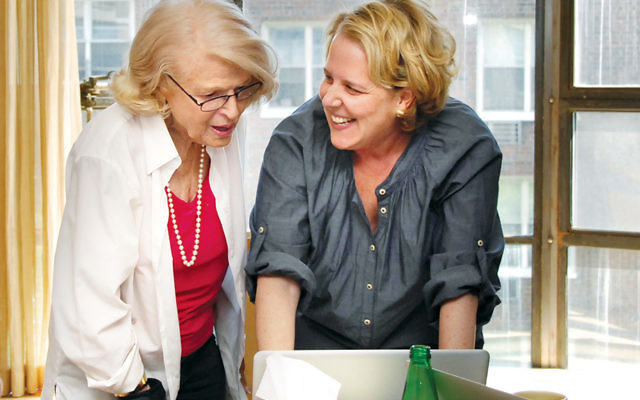 Roberta Kaplan talks with her client Edie Windsor, left. The two became close friends as the case unfolded.