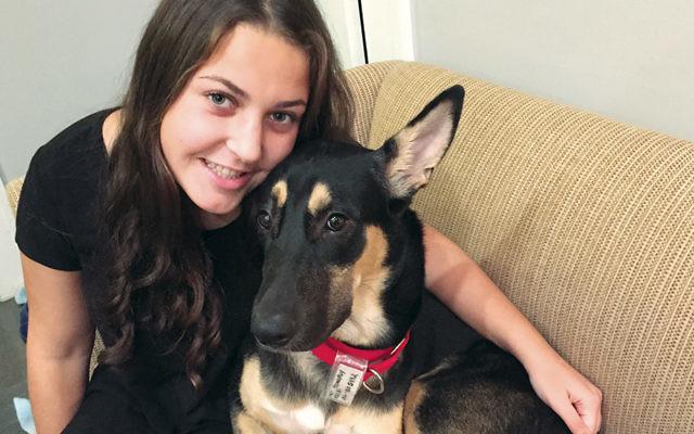 Abby Hockstein cuddles with Major, né Masoor.