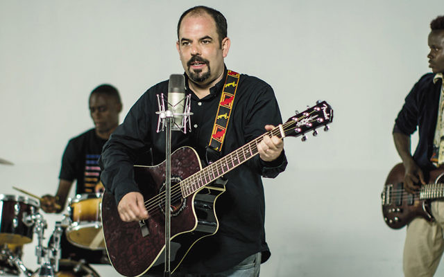 Gilad Millo recording his second single at a studio in Nairobi earlier this month. (Raymond Ndikwe)