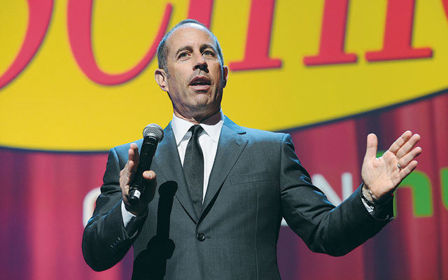 Jerry Seinfeld speaking in New York earlier this year. (Craig Barritt/Getty Images)