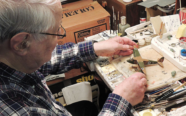 Dr. Yudelson at his modeling bench. (Larry Yudelson)