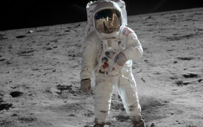 In 2015, Buzz Aldrin visited Israel. In 1969, he visited the moon.