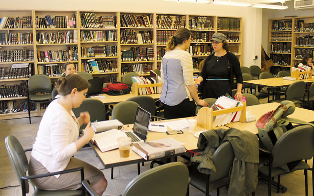 Rabba Sara Hurwitz, right, is the dean of Yeshivat Maharat in New York. Since its founding in 2009, the school has ordained 11 Orthodox clergywomen. (Uriel Heilman)