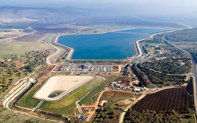 The Eshkol Central Water Filtration Plant, near Nazareth.