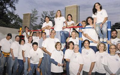 This year's Orangetown Jewish Center volunteers in Israel.
