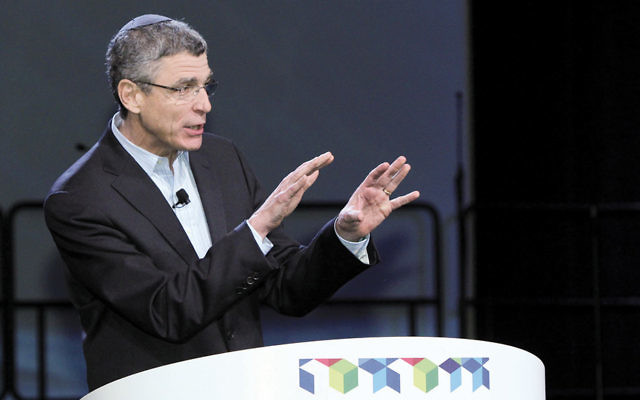 Rabbi Rick Jacobs, leader of the Union for Reform Judaism, speaks at the group's 2013 biennial. (Courtesy of URJ)