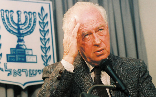 Israeli Prime Minister Yitzhak Rabin was assassinated at a rally in Tel Aviv on November 4, 1995. (Flash90)