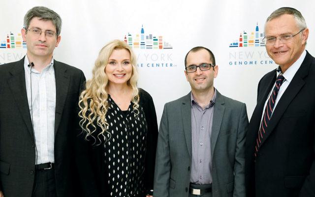 Carl Zimmer, Cece Moore, Yaniv Erlich, and Karl Skorecki were panelists at the Jewish genomics conference in November.