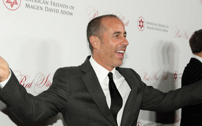 Television and comedy icon Jerry Seinfeld was at the Los Angeles Red Star Ball of American Friends of Magen David Adom on October 22. (Michelle Mivzari)