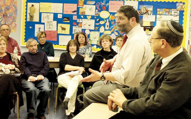 Rabbi Randall Mark of Congregation Shomrei Torah of Wayne teaches participants at the Sweet Tastes of Torah last year.