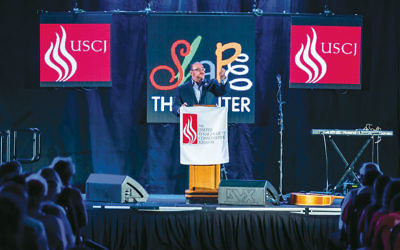 Rabbi Steven Wernick, CEO of the United Synagogue of Conservative Judaism, speaks at USCJ's November 2015 convention in Chicago. (USCJ)