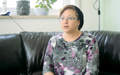 Adina Porat secured a Jewish religious divorce, or get, as the result of an unprecedented campaign to pressure her husband. (YouTube screenshot)