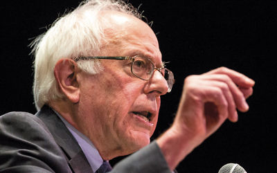 Democratic presidential candidate Bernie Sanders delivers a speech on financial reform in New York earlier this month. (Andrew Burton/Getty Images)