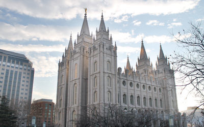 The Salt Lake Temple at the world headquarters of the Church of Jesus Christ of Latter-day Saints in Salt Lake City, Utah. (Uriel Heilman)