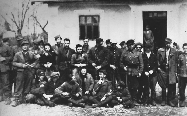 The Jewish Platoon of the Home Army defends itself in a town called Hanaczow.