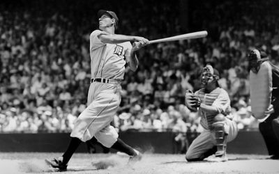 Hall of Famer Hank Greenberg bats for the Detroit Tigers in 1935. (TSN Archives/Getty Images)