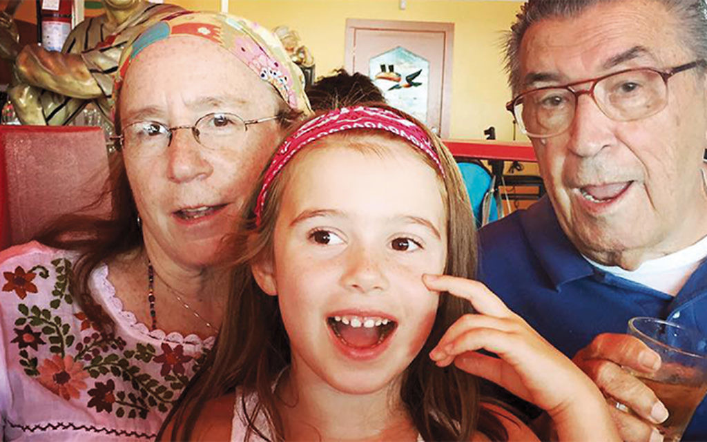 Siobhan Barry-Bratcher, her granddaughter, Alice Rose Ferrari, and her father, James Bratcher, on vacation at Seaside Heights last August. (Photo by kimberlee Piper/dreampiper.net)