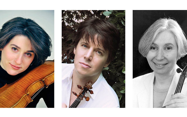 Sharon Roffman, left, Joshua Bell, and Dorothy Roffman