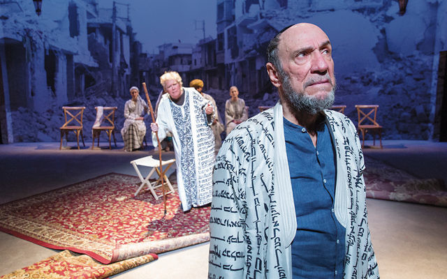"""John Christopher Jones, left, and F. Murray Abraham in a scene from """"Nathan the Wise."""" (Richard Termine)"""