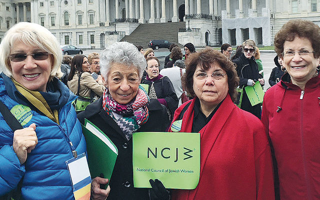 Representatives of NCJW's Bergen County section.