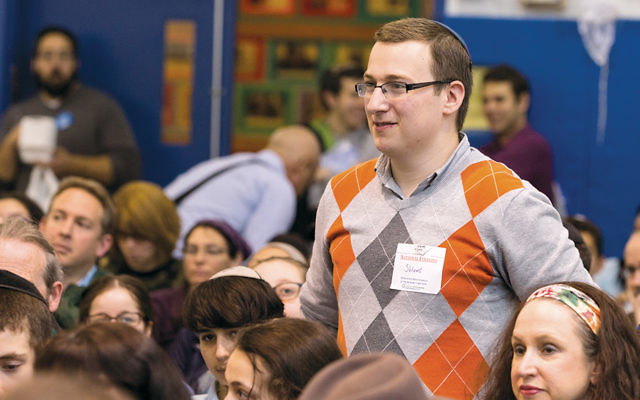 High-school division winner Shlomi Helfgot at the National Bible Contest for Jewish Youth.