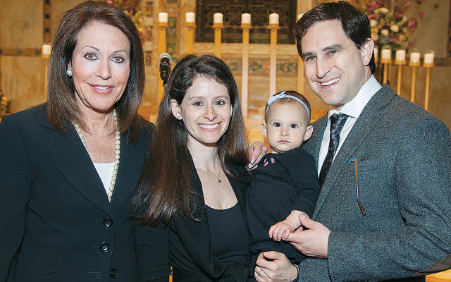 Rita Lerner with Jordana Stone and her family. (Melanie Einzig/Museum of Jewish Heritage)