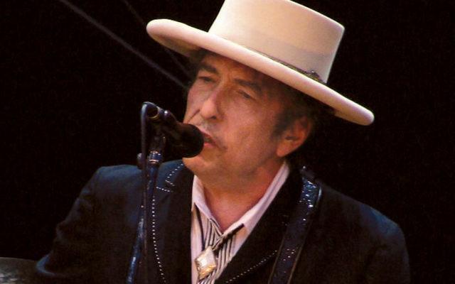 Bob Dylan, onstage in Victoria-Gasteiz, Spain, at the Azkena Rock Festival, 2010