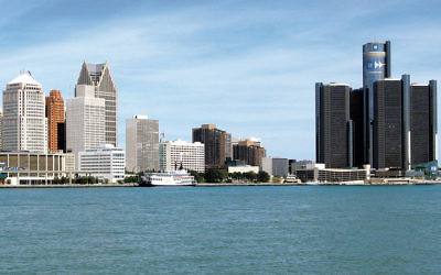 The Detroit skyline (Wikimedia Commons)